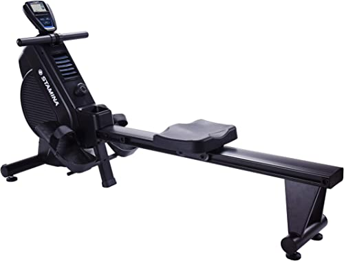 Stamina DT 397 Rowing Machine Rower, Dual Technology Combines Magnetic Air Resistance, Includes Two Expert-Guided Online Workouts, Stream from Any Device