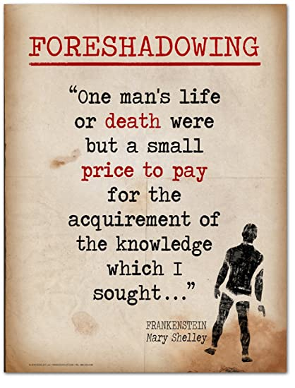 Amazoncom Foreshadowing Literary Term Mini Poster Featuring A