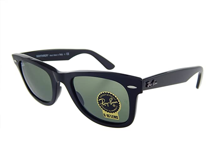 068a92a50d3afc New Ray Ban Orginal Wayfarer RB2140 901 Black Crystal Green 54mm Sunglasses