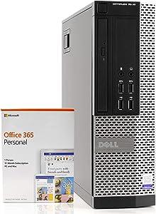 Dell OptiPlex 7020 Small Form Space Saving PC Desktop Computer, Intel i5-4590 3.3GHz, 8GB RAM 500GB Hard Drive, Windows 10 Pro, Microsoft Office 365 Personal, New 16GB Flash Drive, DVD, WiFi (Renewed)