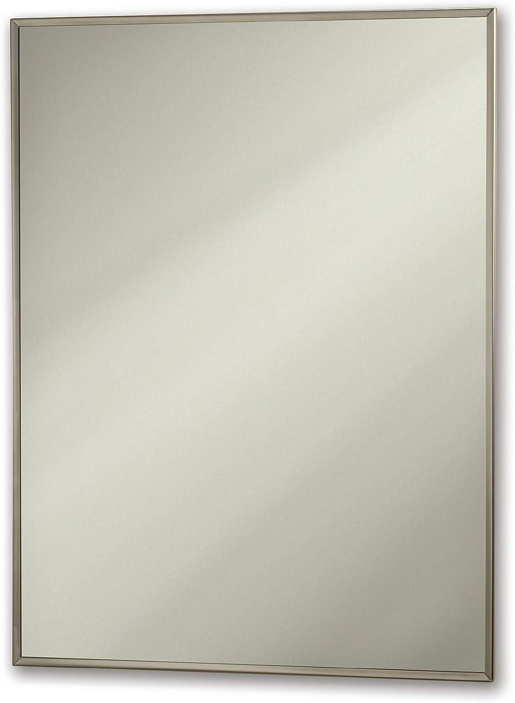 Jensen 84018CHX Stainless Steel Frame Medicine Cabinet, 16 x 22