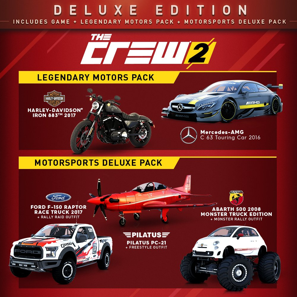 The Crew 2 Deluxe Edition Includes Extra Content