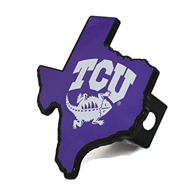 AMG NCAA Premium Solid Metal Heavy Duty Hitch Cover - Texas Shaped (TCU): Automotive