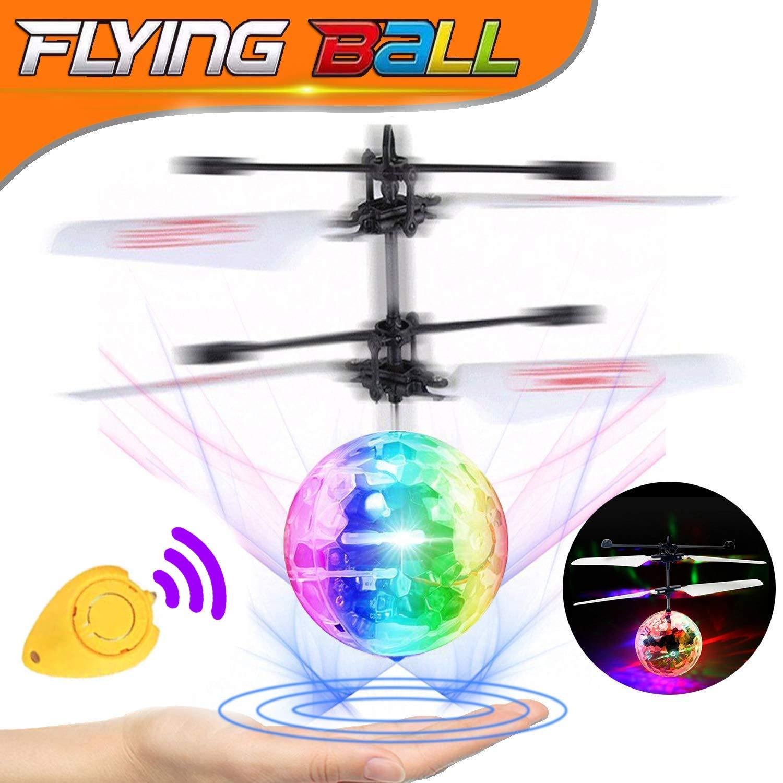RC Bola Voladora,TURNMEON RC Drone Helicóptero con Led Llamativo ...