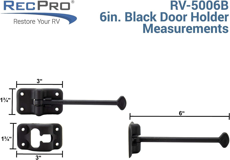 Latch Holder RV Door Holder RV T-Style Door Holder Catch 6 or 10 Option Cargo Hatch RV Door Hardware 4 4 Inches, Black Black or White Color Options 2 Pack