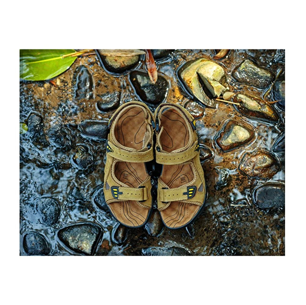 LYZGF Männer Jugend Sommer Hausschuhe Casual Strand Sandalen Mode Scrub Hausschuhe Sommer Khaki 012f76