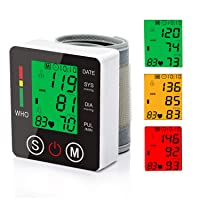 Wrist Blood Pressure Monitor Voice Broadcast Blood Pressure Cuff with Large Backlit...