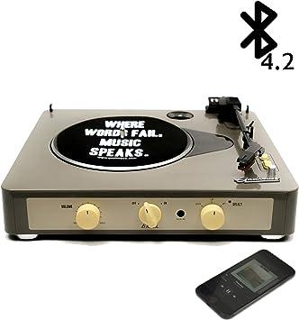 Amazon.com: gadhouse Brad clásico Record Player 3-speed ...