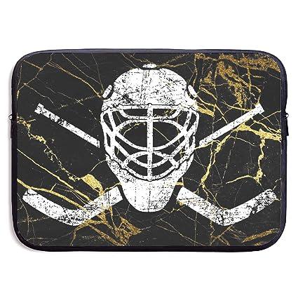 Amazon Com Crossed Goalie Sticks Hockey Notebook Bags Zipper Laptop