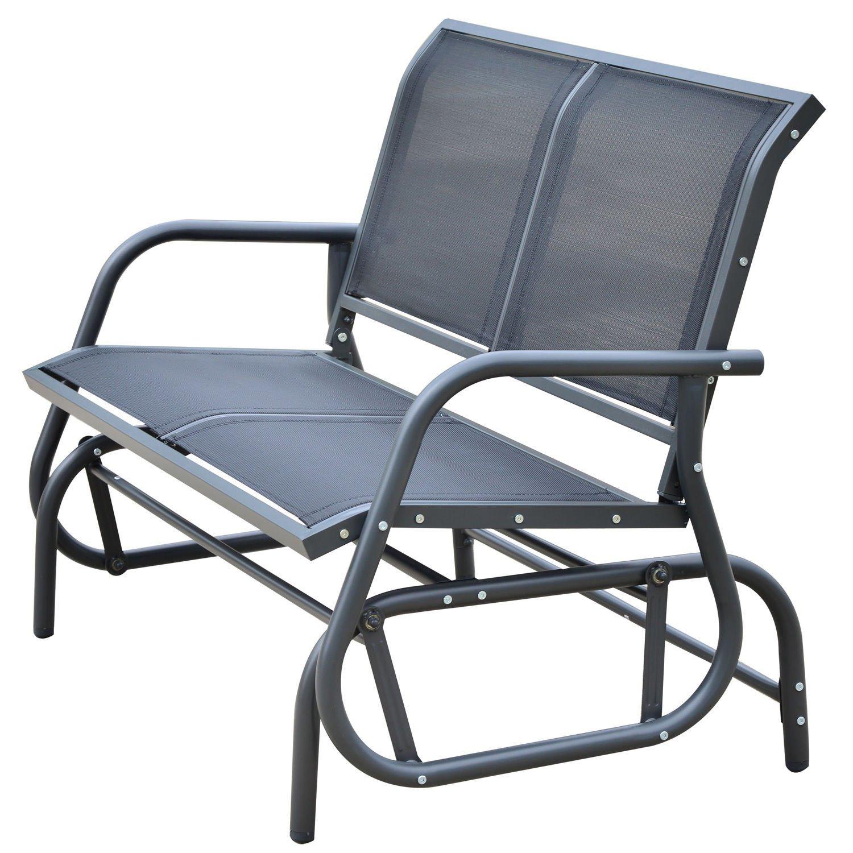 Astounding Amazon Com Patio Garden Glider Bench 2 Person Double Swing Creativecarmelina Interior Chair Design Creativecarmelinacom