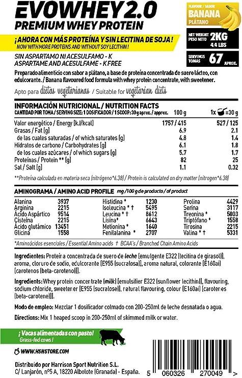Concentrado de Proteína de Suero Evowhey Protein 2.0 de HSN ...