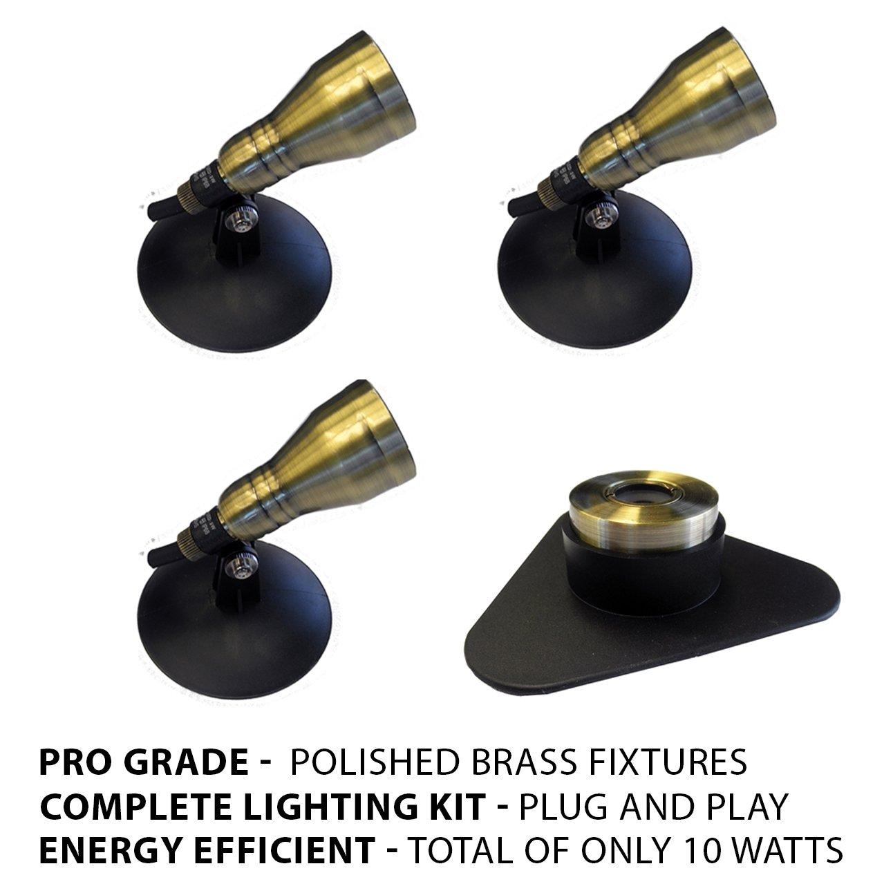 Patriot Brass LED Waterproof Pond and Landscape Lighting 10 Watt Light Kit P-B3 by Patriot