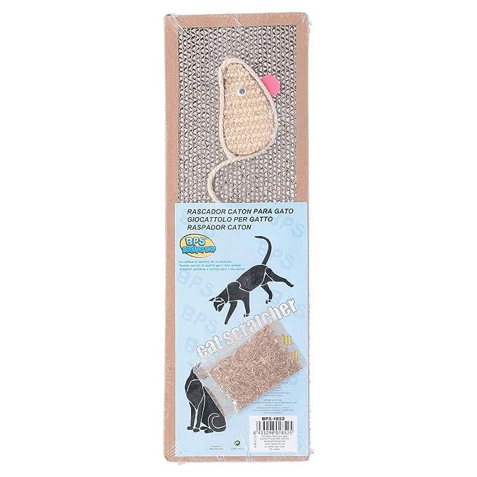 BPS Rascador Gatos Rascador de Cartón Juguetes Gatos Accesorio Ideal para Afile las Uñas (24X39) BPS-1853: Amazon.es: Productos para mascotas