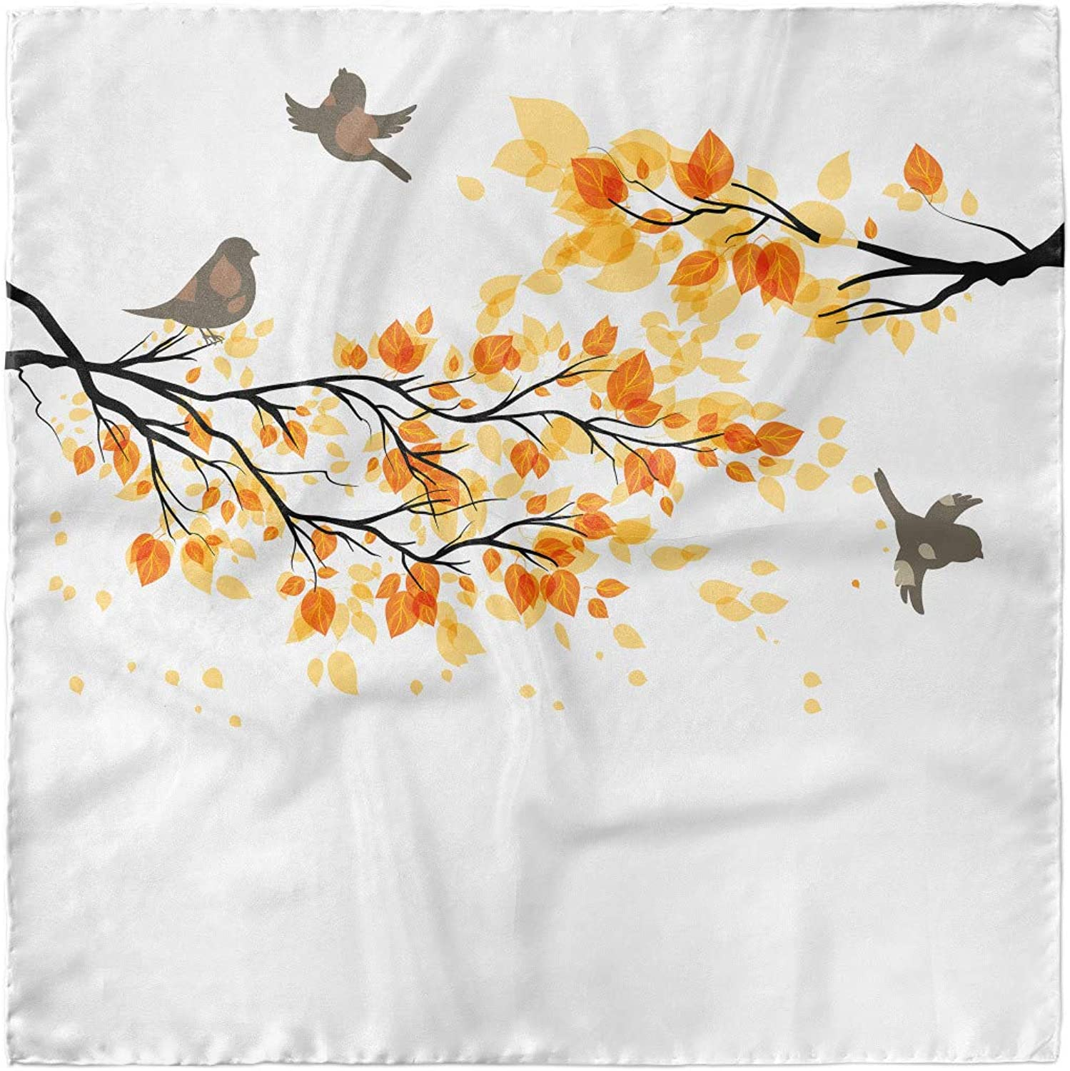 Hijab Scarf Flying Birds and Leaves Ambesonne Forest Headscarf