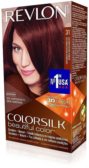 Revlon ColorSilk Hair Color, [31] Dark Auburn 1 ea (Pack of 6