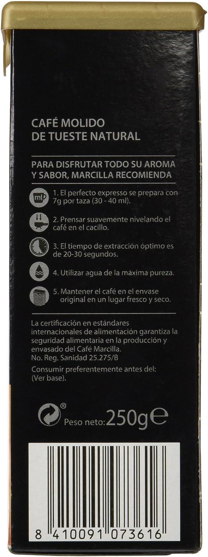Marcilla Café Molido Crème Express, Natural - 4 Paquetes de 250 gr ...