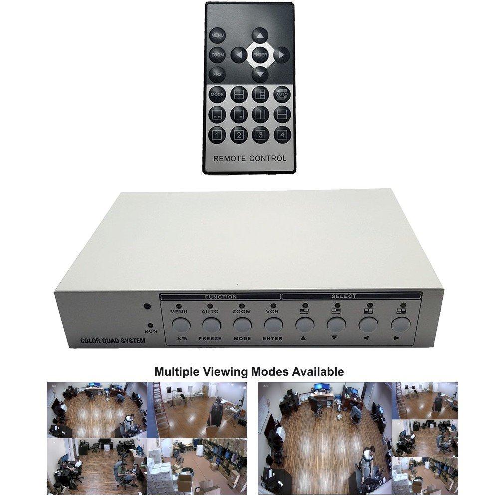 CCTV Camera Pros VM-HD4 HD CCTV Multiplexer, Analog AHD TVI HDCVI Video Quad Screen Processor, HDMI by CCTV Camera Pros