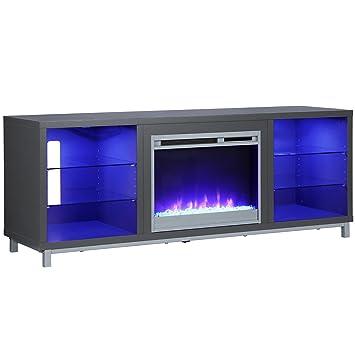 Amazon Com Ameriwood Home 1822296com Lumina Fireplace Stand For For