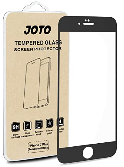 super popular a5c7b 2f677 JOTO iPhone 8 Plus / 7 Plus Screen Protector, Full Screen Tempered Glass  Screen Protector Film, Edge to Edge Protection Screen Cover Saver Guard for  ...