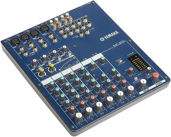 Yamaha MG102C Mesa de Mezcla Analógica de 10 canales: Amazon.es ...
