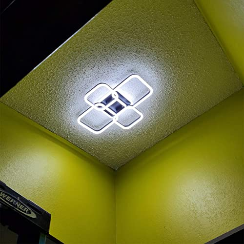 DOTANOT Modern Ceiling Light 23.6 inch LED Chandelier Black Flush Mount 40W Lighting Fixtures Ceiling