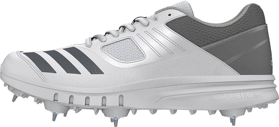 Adidas Howzat Mens Adult Cricket Trainer Spike Shoe White/Grey ...