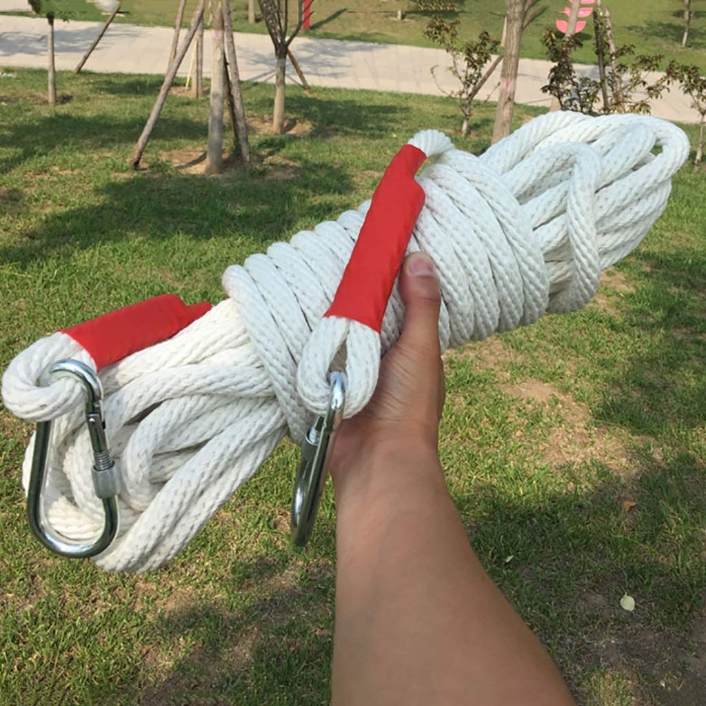 クライミングロープ 14ミリメートルマルチサイズオプションの電気技師のロープ、綿とリネンの白いロープ、屋外救助ロープ (色 : 14MM-40m)  14MM-40m B07Q11NS48
