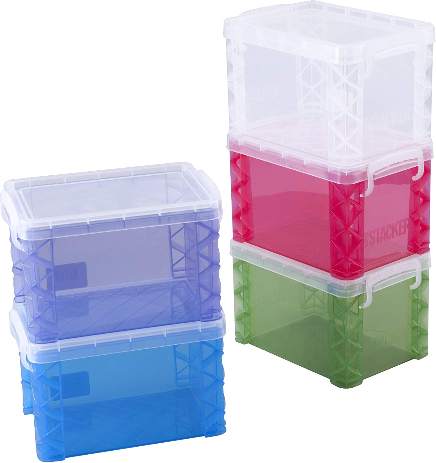 Super Stacker 4 x 6 Inch Index Card Box, Assorted Colors, 1 Box (61614) 71kzGEcsgkL