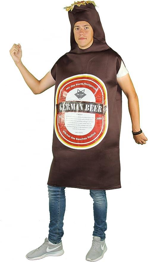 FOXXEO Divertido Disfraz de Botellas de Cerveza marrón para ...