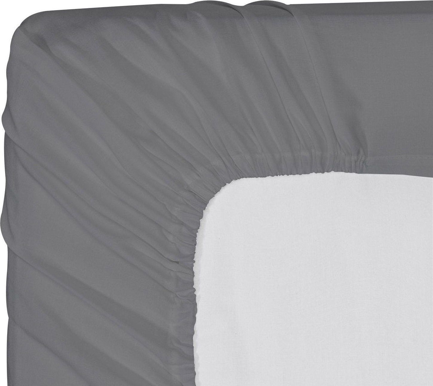 Utopia Bedding Premium Cotton Fitted Sheet Thread Count 300 (Twin, Grey) – 100% Combed Cotton Sateen - Super Soft Mercerized Fabric - Machine Washable UB925