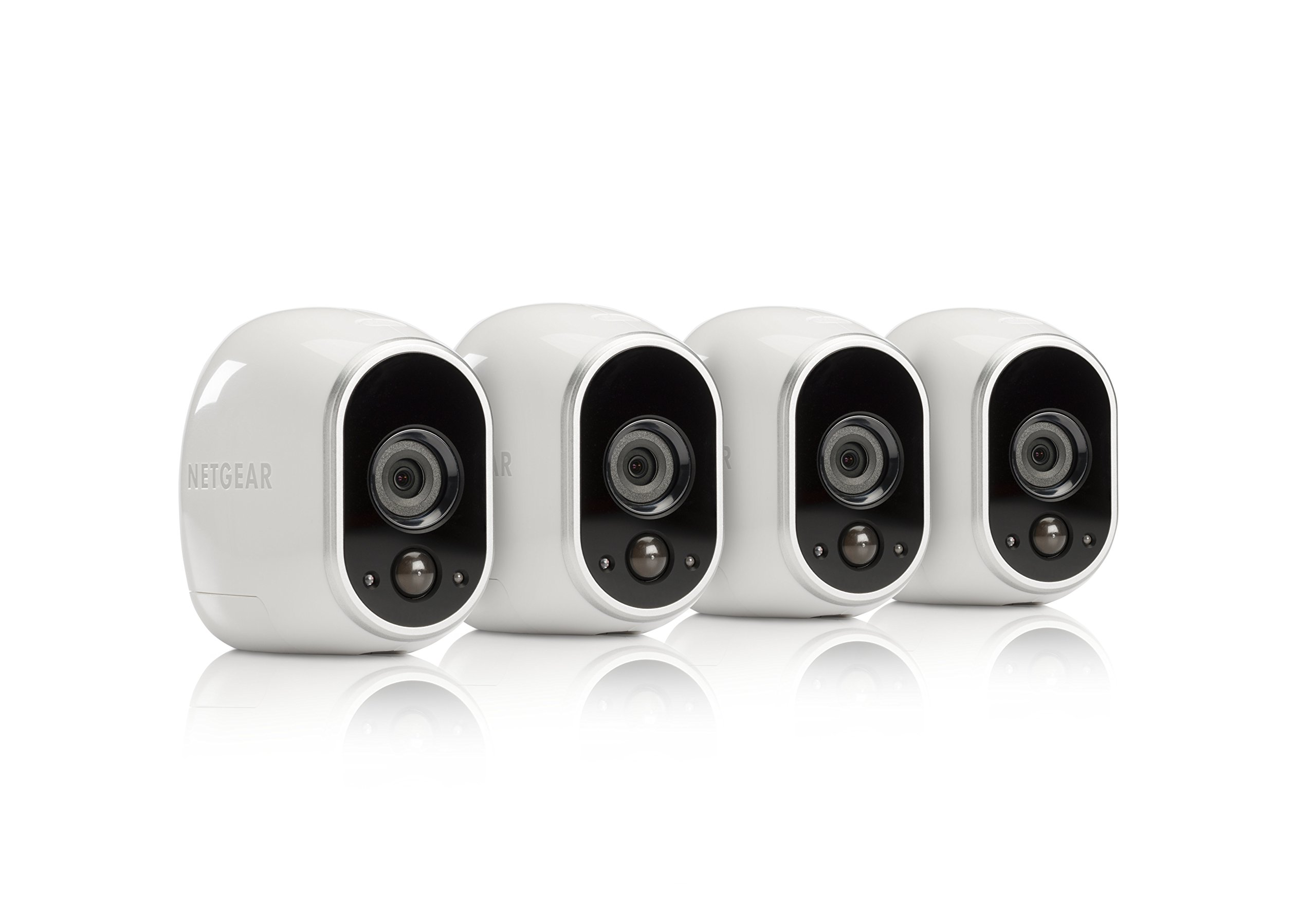 Arlo by NETGEAR Security System - 4 Wire-Free HD Cameras | Indoor/Outdoor | Night Vision (VMS3430), Works with Alexa by Arlo (Image #1)