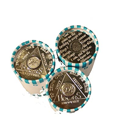 75 AA Tokens/Medallions 3 Rolls of The 24 Hour Aluminum Chips/Tokens Commemorative Medallion: Office Products