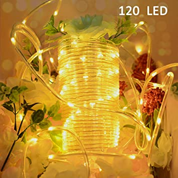 Outdoor Battery Operated Lights With Timer Amazon vmanoo outdoor string lights 120 led battery operated vmanoo outdoor string lights 120 led battery operated string fairy christmas lighting decor timer for outdoor workwithnaturefo