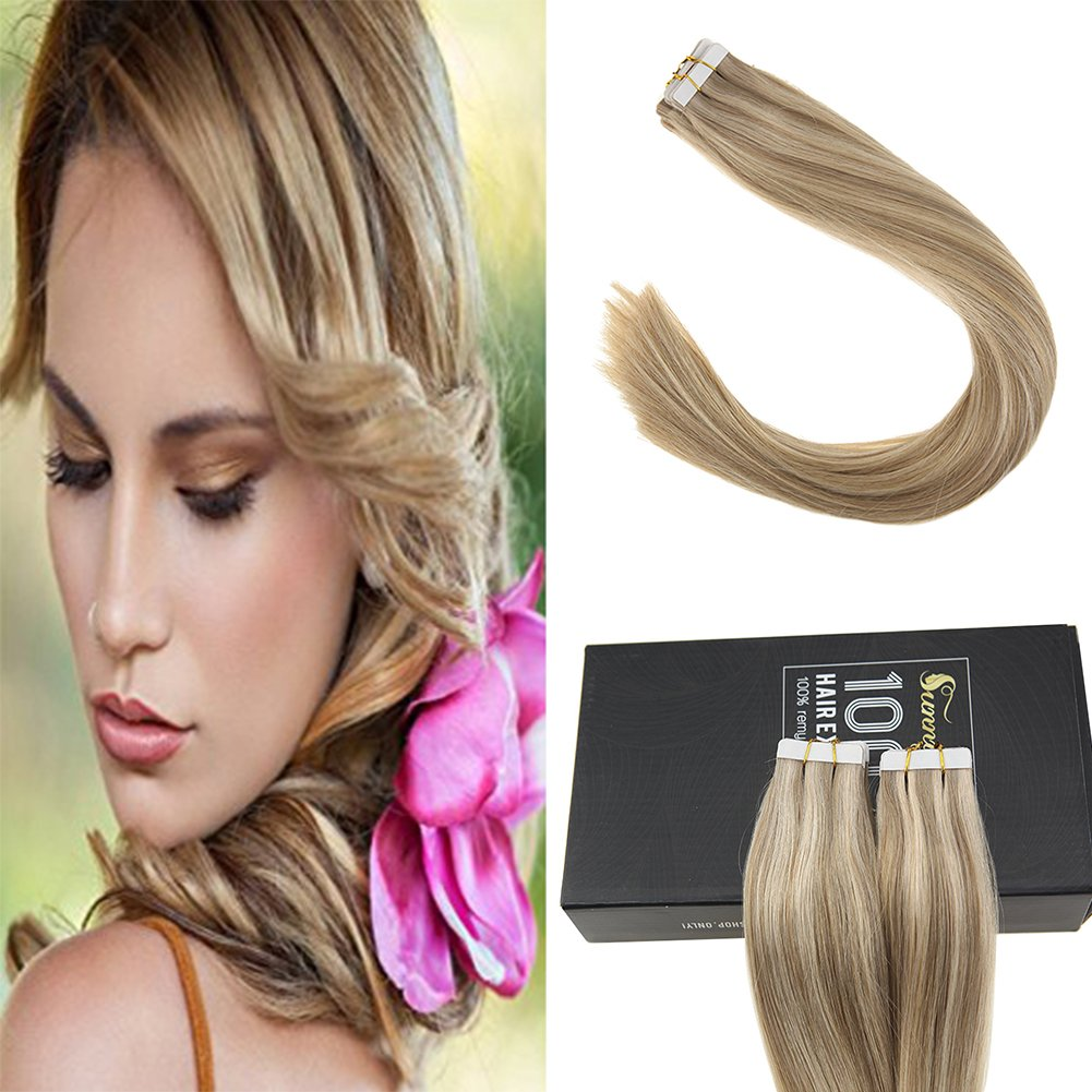 Amazon Sunny 16 Inch Remy Brazilian Tape In Hair Extensions
