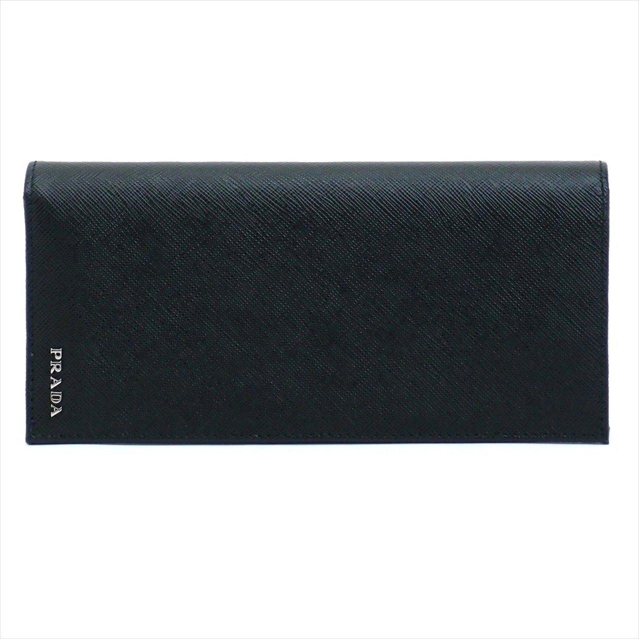 プラダ 財布 メンズ 長財布 NERO 黒 レザー 2MV836-2E26-F0R8F [アウトレット品] [並行輸入品] B0777C456Q