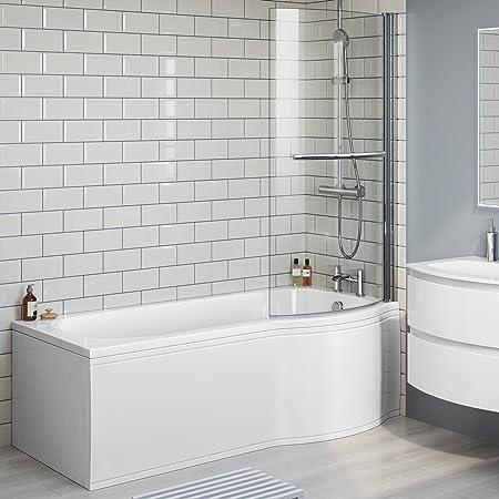 1600mm Designer Shower Bath P Shape Right Hand Bathtub Panel with ...