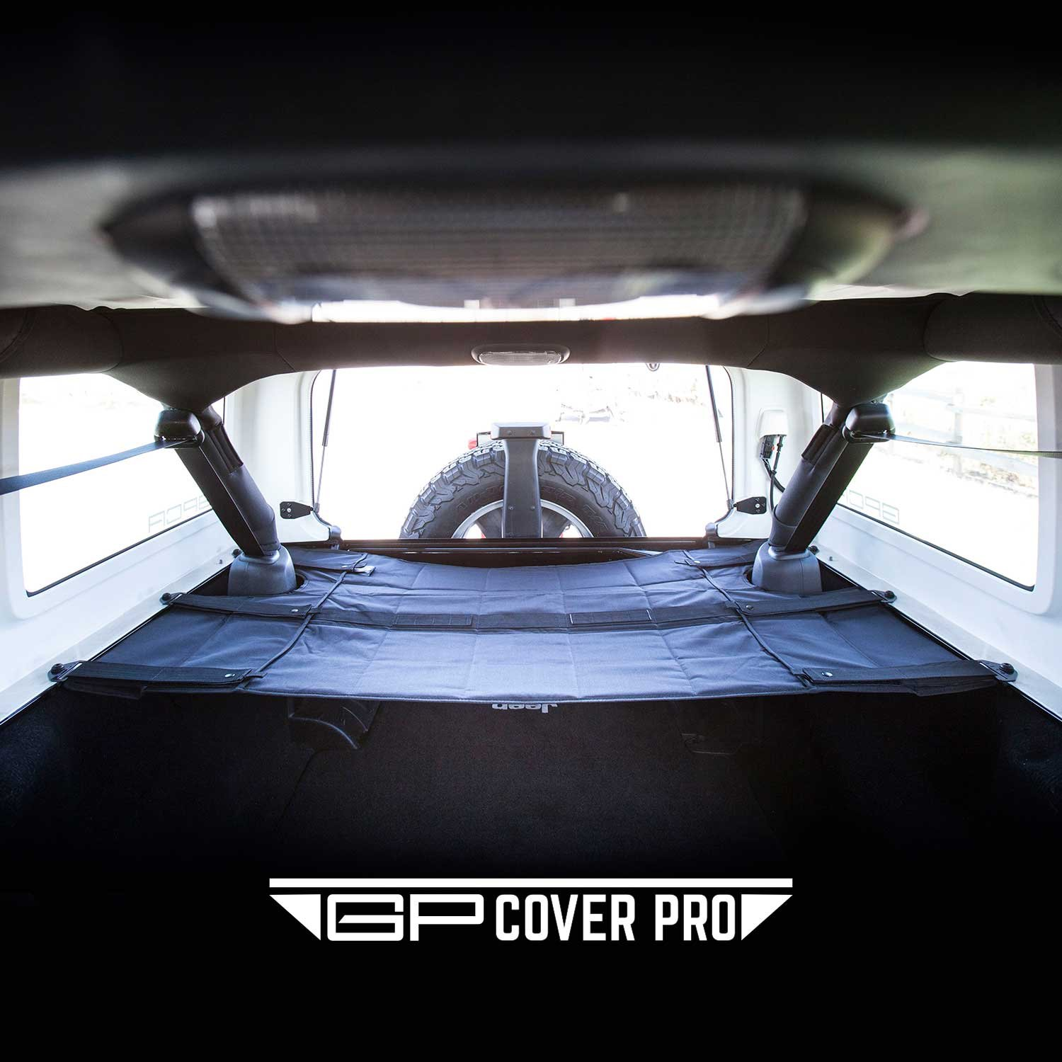 for Jeep Wrangler Sports//Sahara//Freedom//Rubicon 2007-2018 Models GPCA Cargo Cover PRO and Cargo Organizer Freedom Pack for TOP ON//Topless Jeep Wrangler JKU 4DR Freedom Pack