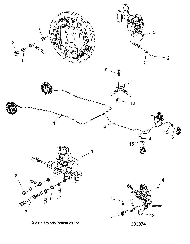 ELXD Polaris ASM-LINE,BRAKE,REAR,ELXD