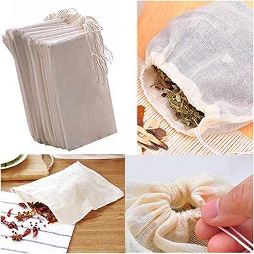 Fomccu - 10 bolsas de muselina de algodón con cordón reutilizables ...