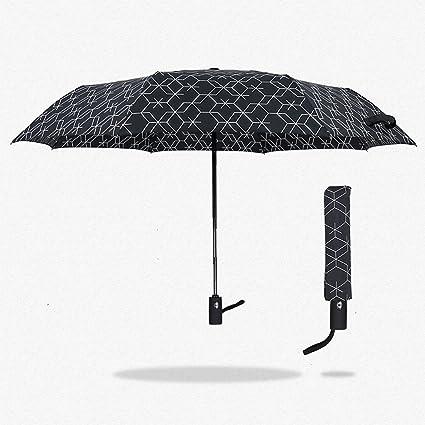 MDBLYJCreatividad casera Paraguas Doble de Cierre automático Totalmente automático, Paraguas Transparente para Negocios creativos.