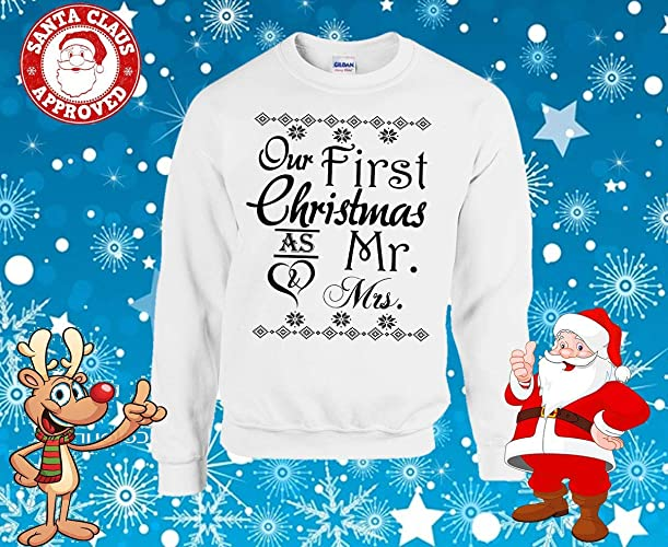 Amazon.com Personalised Mr \u0026 Mrs Christmas Sweater Jumper