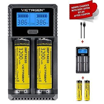 Amazon.com: Victagen Cargador de batería universal, pantalla ...