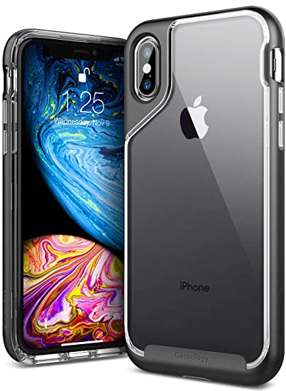 huge discount 5b3c0 9aabb Caseology Skyfall for iPhone Xs Case (2018) - Clear Back & Slim Fit - Soft  Stone