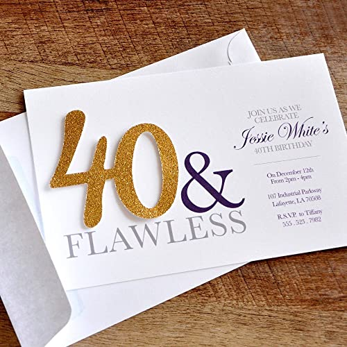 Amazon 40th Birthday Invitations And Envelopes For Men