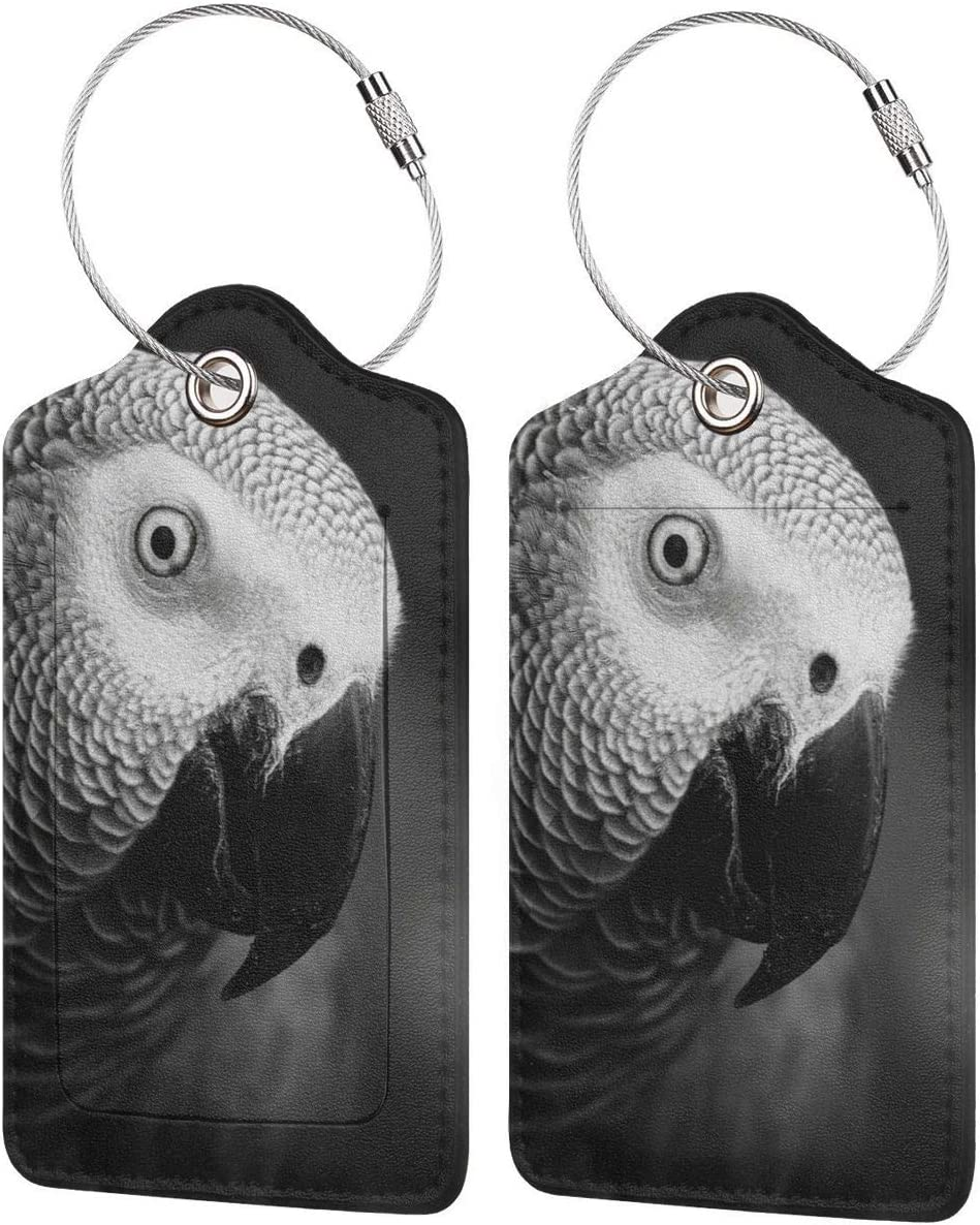2 Pack Luggage Tags Parrot Baggage Tag For Suitcase Bag Accessories