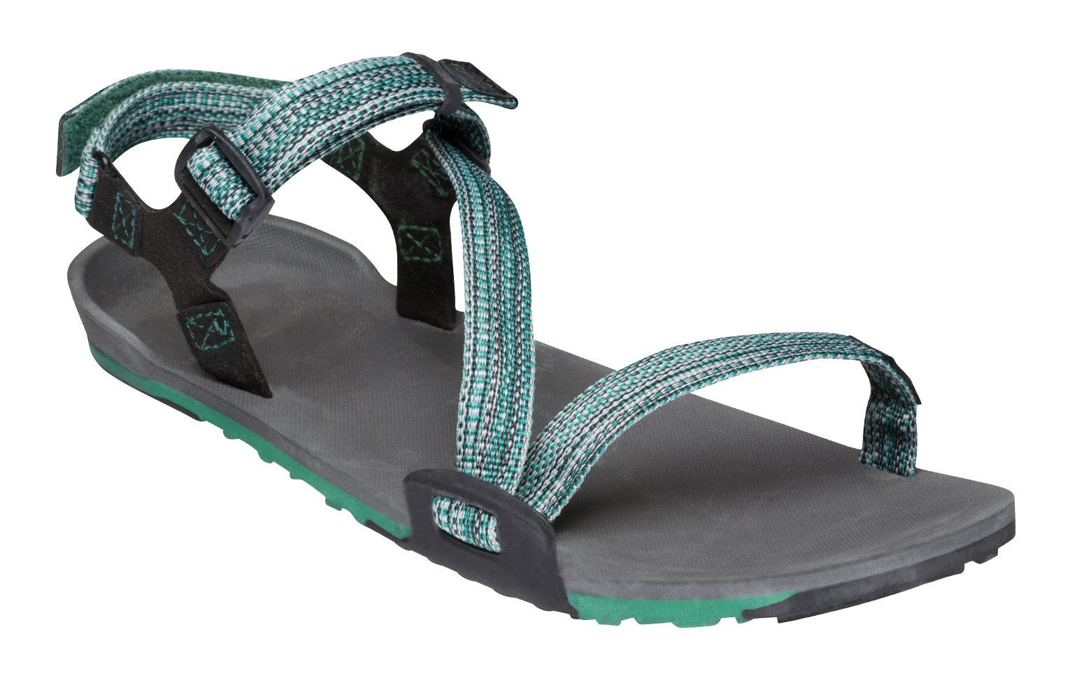 2bc1037ace8f Xero Shoes Z-Trail - Women s Lightweight Hiking and Running Sandal -  Barefoot-Inspired Minimalist Trail Sport Sandals - Multi-Green