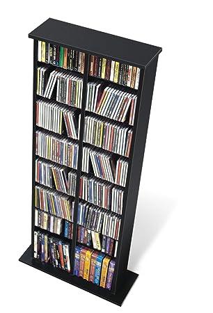 Prepac Black Double Media (DVD,CD,Games) Storage Tower