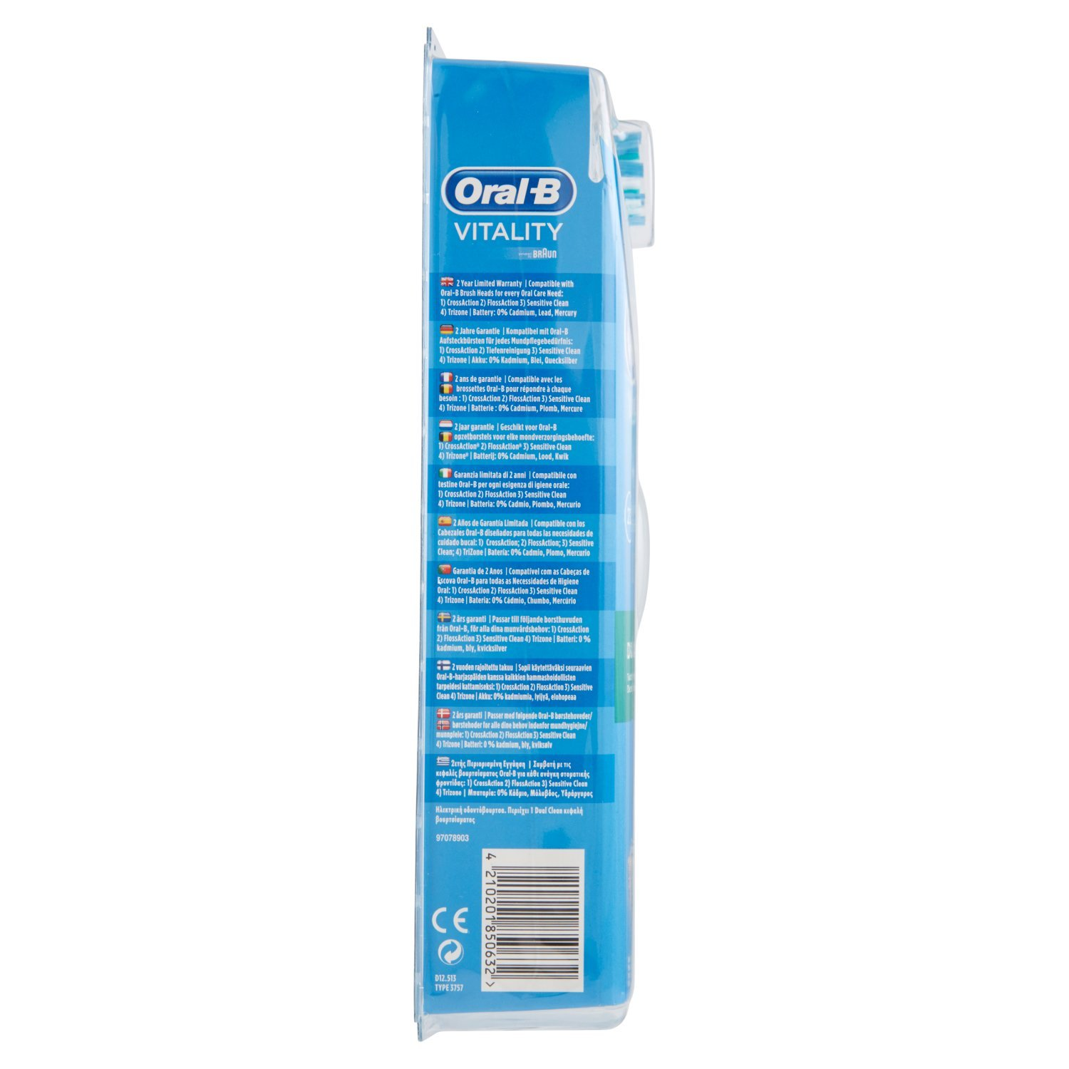 Amazon.com: Oral-B Vitality 2D Action Technology Electric Rechargeable Toothbrush - Dual Clean: Beauty