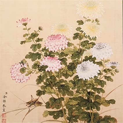 Amazon Com Ink Wash Nature Flower Art Chinese Painting Wall Decor