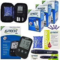 Kit Monitorar Glicose Medir Glicemia 150 Tiras G-tech Lite
